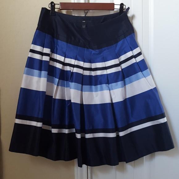 074ea15446 H&M Skirts   Hm Full Skirt Blue And White Striped Size 8   Poshmark